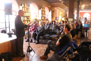 David Ranney, Author speaking at Collected Works Bookstore in Sante Fe, NM